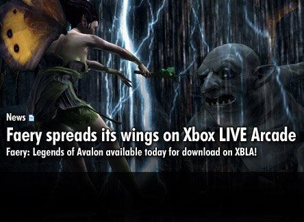 Faery: Legends of Avalon Releases Today on Xbox LIVE® Arcade!
