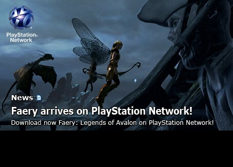 Faery: Legends of Avalon releases on PlayStation Network!